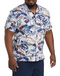 Columbia Big & Tall Trollers Best Sport Shirt - Blue