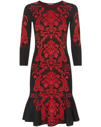 Roberto Cavalli Baroque Knit Dress - Lyst