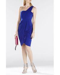 BCBGMAXAZRIA Julieta One-Shoulder Ruched Dress - Lyst