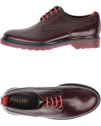 Pollini Lace Up Shoes - Red