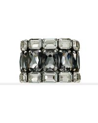 Ralph Lauren Triple-row Crystal Cuff - Lyst