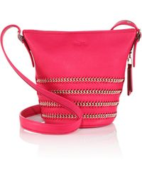 Coach Mini Whipstitched & Chain-Accented Crossbody Bag pink - Lyst