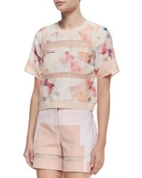 Rebecca Taylor Enchanted Gardens Voile Tee - Lyst