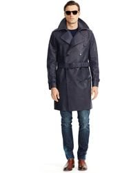 Ralph Lauren Black Label Bonded-leather Trench Coat - Lyst