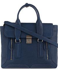 3.1 Phillip Lim Pashli Medium Leather Satchel - Blue