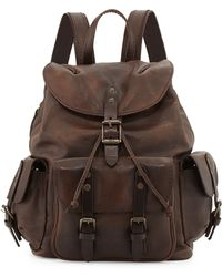 Frye Veronica Leather Backpack - Lyst