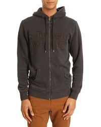 Diesel Srolf Zip Grey Hooded Sweater - Lyst