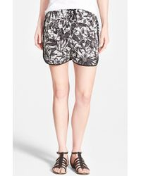 Two By Vince Camuto Jungle Print Drawstring Shorts - Lyst