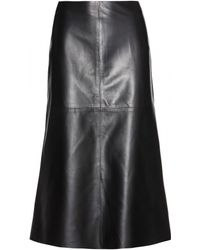 Valentino Leather Skirt - Lyst