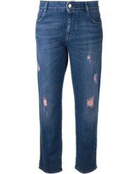 Stella McCartney Cropped Jeans - Lyst