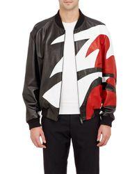 Alexander McQueen Tri-Color Bomber Jacket - Lyst
