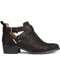H&M | Suede Boots | Lyst