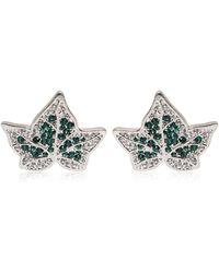 Alexander McQueen Ivy Swarovski Crystal Earrings - Lyst