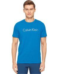 Calvin Klein Performance Space-Dye Transfer Crew-Neck T-Shirt blue - Lyst