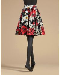 Dolce & Gabbana | Circle Skirt In Printed Cotton | Lyst