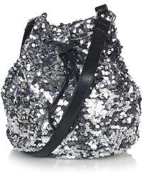 Jaded London - Silver Sequin Bucket Bag By - Lyst