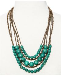 Greenola Style Green Multistrand Acai Necklace