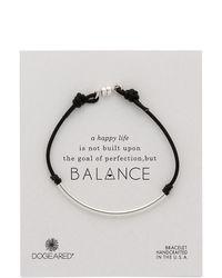 Dogeared Balance Tube Bracelet - Metallic