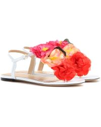Charlotte Olympia Rosario Embellished Leather Sandals - Lyst