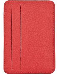 Barneys New York Vertical Card Case - Lyst