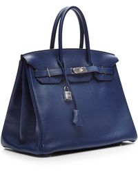 Heritage Auctions Special Collection Hermes 35cm Blue Sapphire Clemence Birkin - Lyst