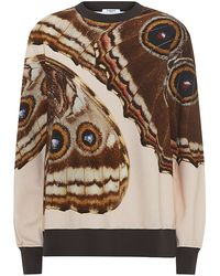 Givenchy - Butterfly Print Sweatshirt - Lyst