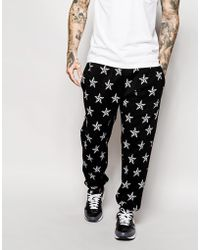 Jaded London Joggers With Star Print - Lyst