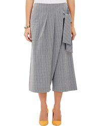 Thakoon - Wrap-Front Cropped Wide-Leg Trousers - Lyst