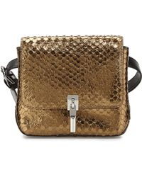 Elizabeth And James Cynnie Snake-embossed Belt Bag - Lyst