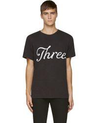 Rag & Bone Black Embroidered Three T_shirt - Lyst