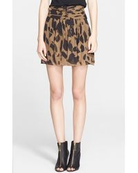 Burberry Brit - Camo Print Silk Skirt - Lyst