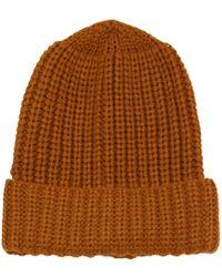 Label Lab - Chunky Knit Turn Cuff Beanie - Lyst