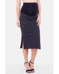 Ingrid & Isabel - Side Slit Midi Maternity Skirt - Lyst