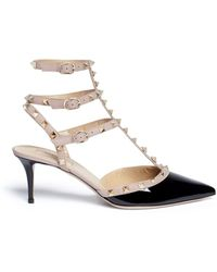 Valentino   'rockstud' Caged Patent Leather Pumps   Lyst