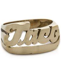 Snash Jewelry Taco Ring - Gold - Metallic