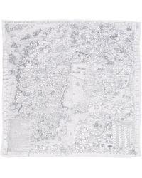 Acne Studios Square Scarf white - Lyst