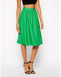 True Decadence | Textured Full Midi Skirt | Lyst