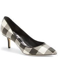 Dolce & Gabbana Gingham Pointy Toe Pump - Lyst