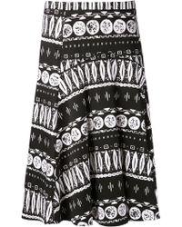 Veronica Beard A-line Woodblock Print Skirt - Lyst