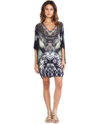 Camilla Bat Sleeve Mini Dress - Lyst
