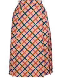 Yves Saint Laurent Vintage Criss-Cross Skirt - Lyst