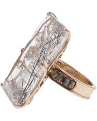 Federica Rettore Filigree Rectangle Ring - Metallic