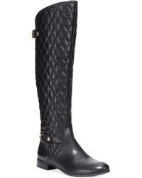 Anne Klein Kyle Quilted Riding Boots - Lyst