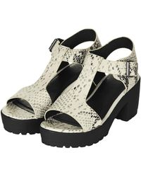 Topshop Womens National Sandals Natural - Lyst