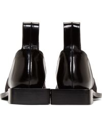 Paco Rabanne - Laceless Leather Derby Shoes - Lyst