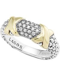 Lagos Silver  18k Diamond Lux Ring - Lyst