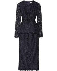 Stella McCartney Dixie Macramé Lace Two-Piece Dress - Blue