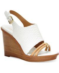 Calvin Klein Women'S Prina Platform Wedge Sandals - Lyst
