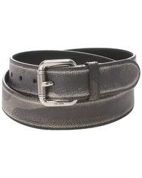 Prada Camo Print Saffiano Leather Single Prong Buckle Belt - Lyst
