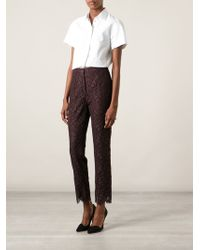 Dolce & Gabbana Floral Lace Trousers - Lyst